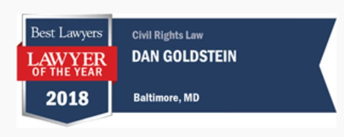 Best Lawyers, Lawyer of the Year 2018, Dan Goldstein, Civil Rights Law