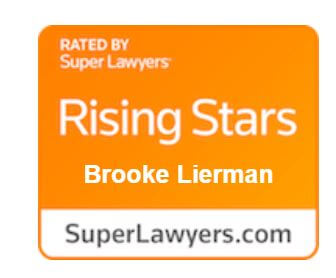 rated by super lawyers, rising stars, Brooke Lierman, superlawyers.com