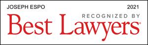 Best Lawyer, Recognized 2021, Joseph Espo