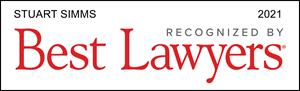 Best Lawyers, Recognized 2021, Stuart Simms