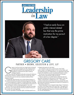 Daily Record Leadership in Law, Greg Care