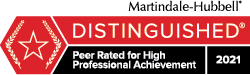 Sharon Krevor-Weisbaum, Martindale-Hubbell, Distinguished - Peer Rated for High Professional Achievement 2021