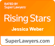rated by Super Lawyers, rising stars, Jessica Weber, Superlawyers.com