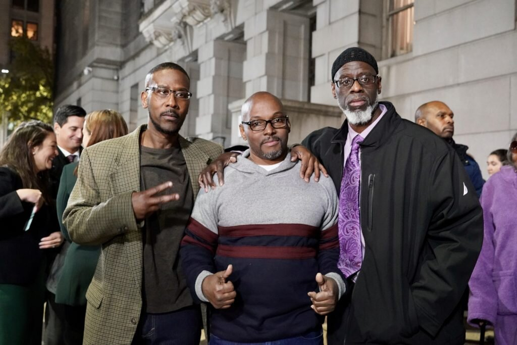 Alfred Chestnut, Andrew Stewart, and Ransom Watkins, free at the age of 52.
