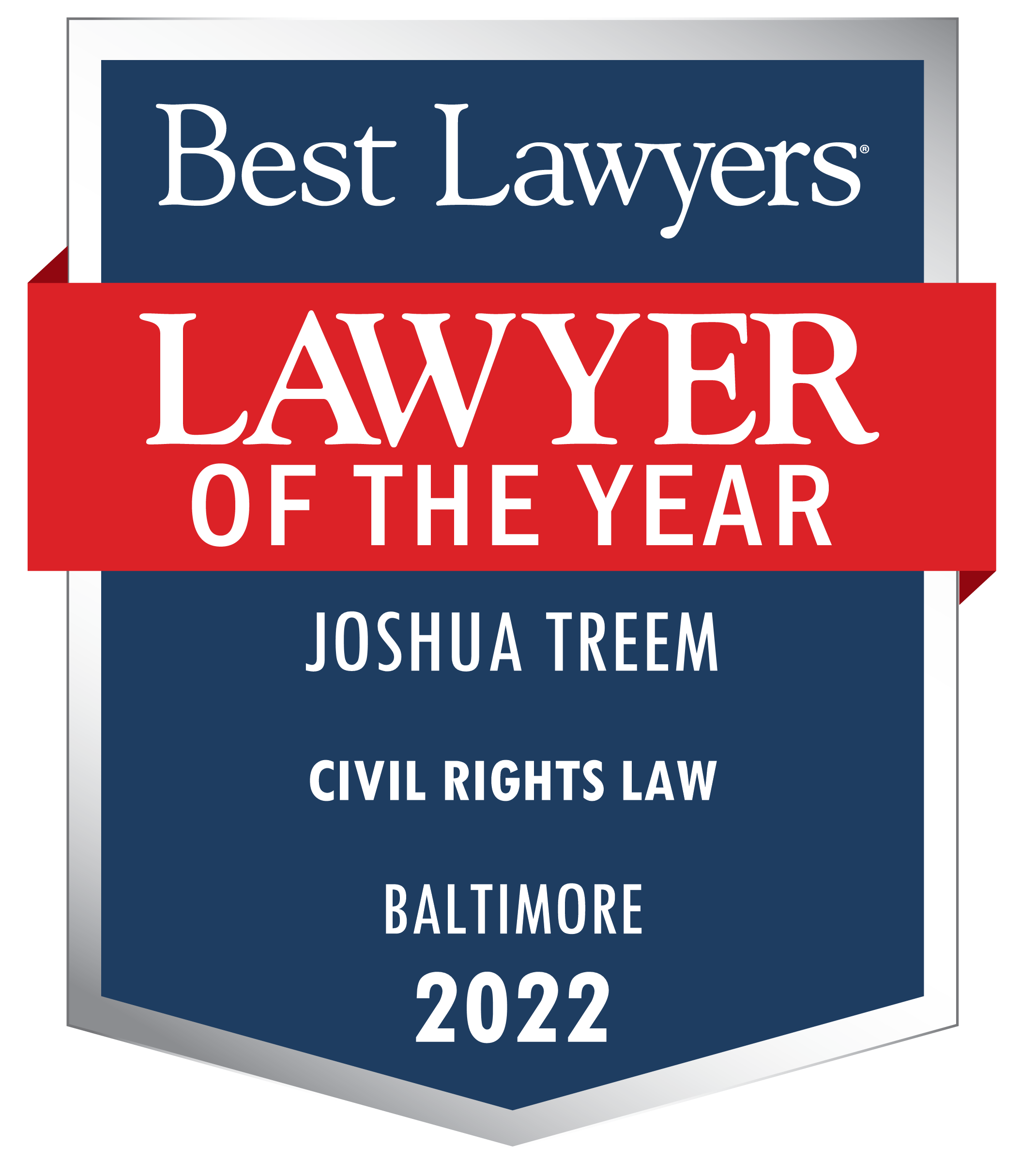 Best Lawyers Lawyer of the Year, Joshua Treem, Civil Rights Law, Baltimore, 2022